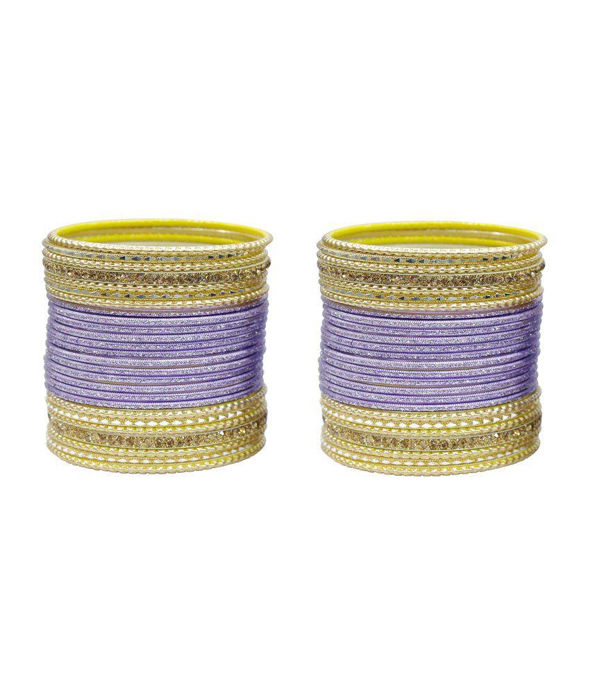 Much More Stunning Design Purple Bangle Kada Set Indian Karwa Chauth Jewelry Set Of 52