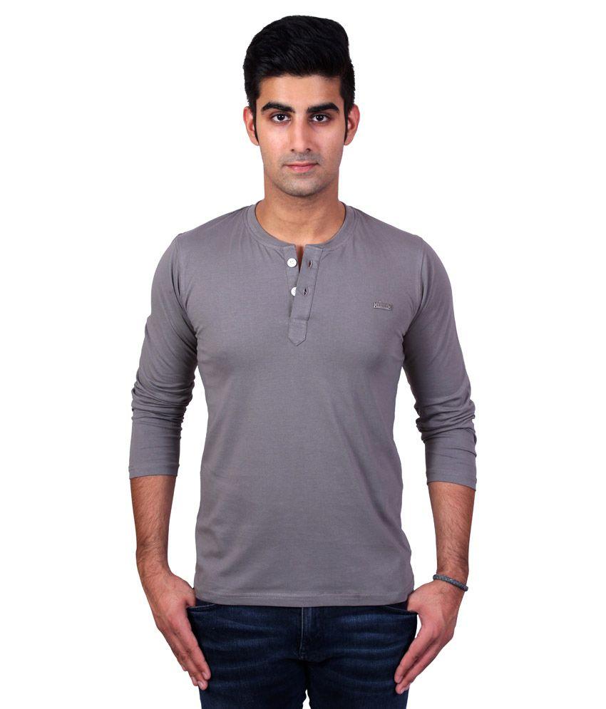 Bridge Grey Cotton T-Shirt