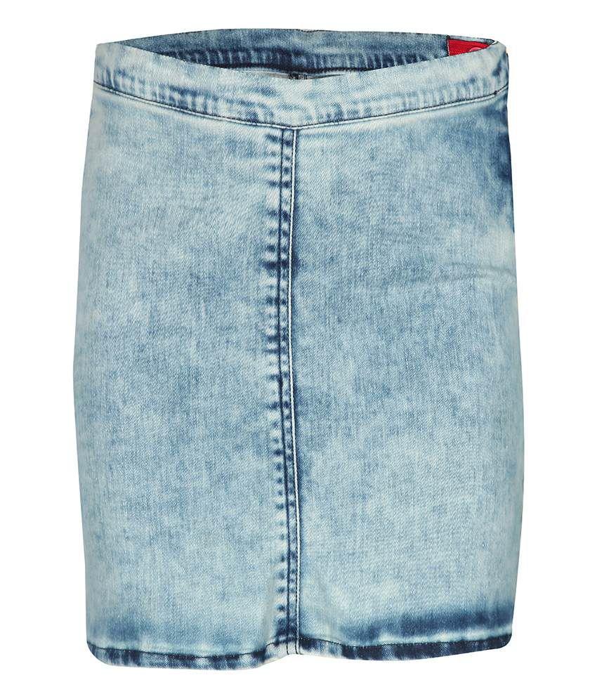 Gini & Jony Cotton Blend Blue SKORT For Kids