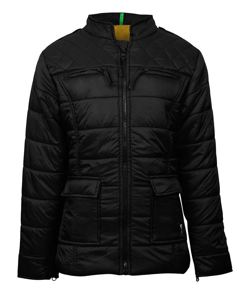Gini & Jony Synthetic Black WINTER JACKET For Kids
