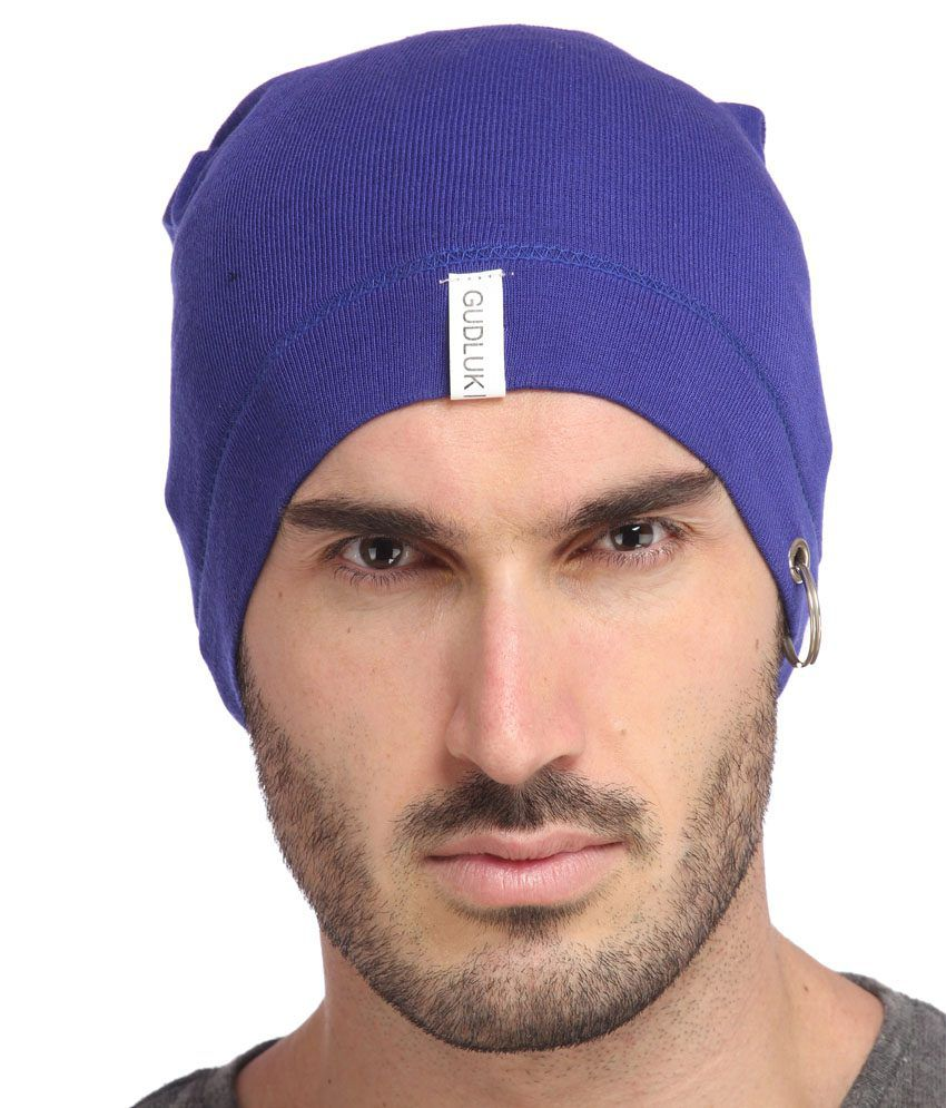 Gudluk Blue Cotton Santa Cap For Men - Buy Online   Rs.  450b848de01