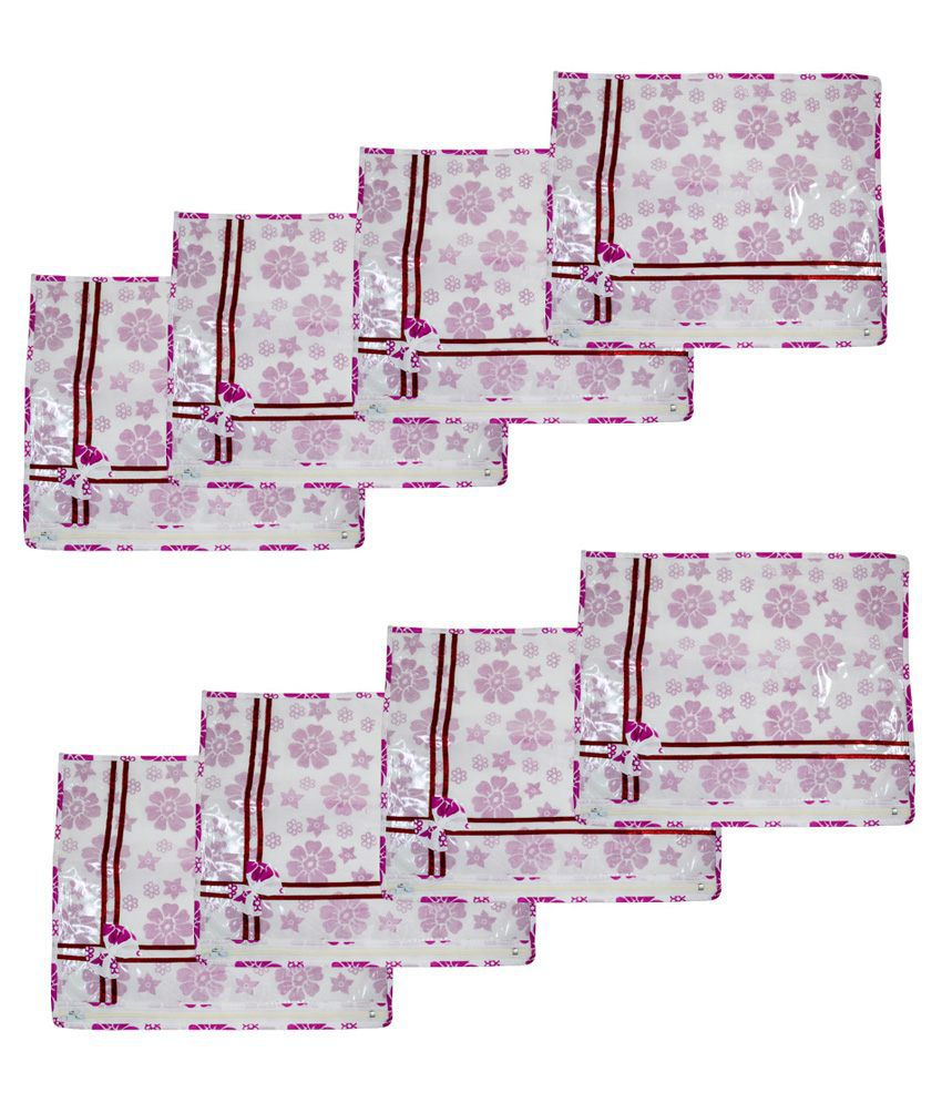 Onymony Purple Plastic Saree Cover - Pack Of 24