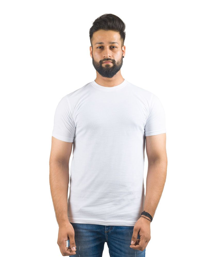 Ecorage White Cotton T-shirt - Combo Of 3