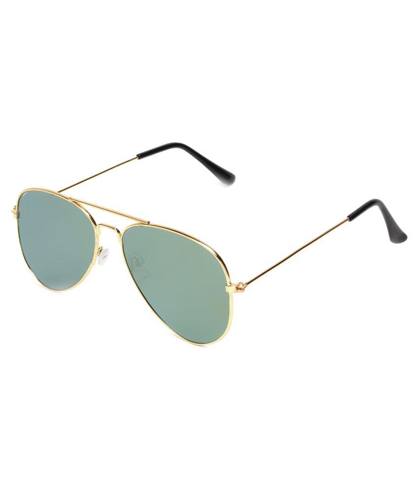 Escobar Golden Frame Aviator Sunglasses