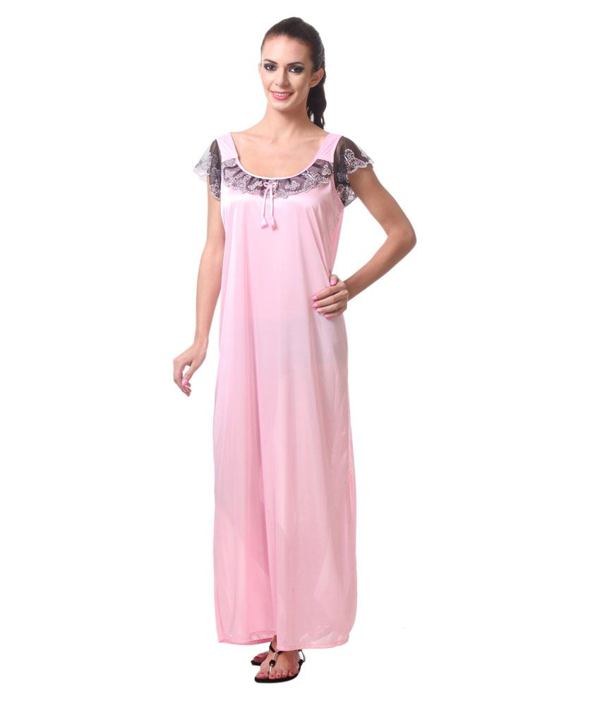 cf152100540 Buy Affair Pink Poly Satin Nighty Online at Best Prices in India - Snapdeal