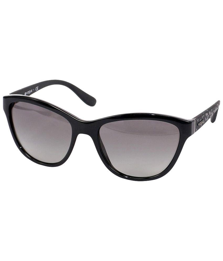 4bda78edcaef0 Vogue Black   Gray Cat Eye Sunglasses for Women - Buy Vogue Black   Gray Cat  Eye Sunglasses for Women Online at Low Price - Snapdeal