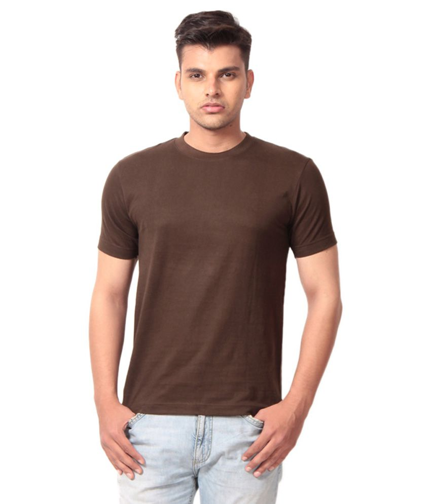 Winson Brown Cotton T-Shirt