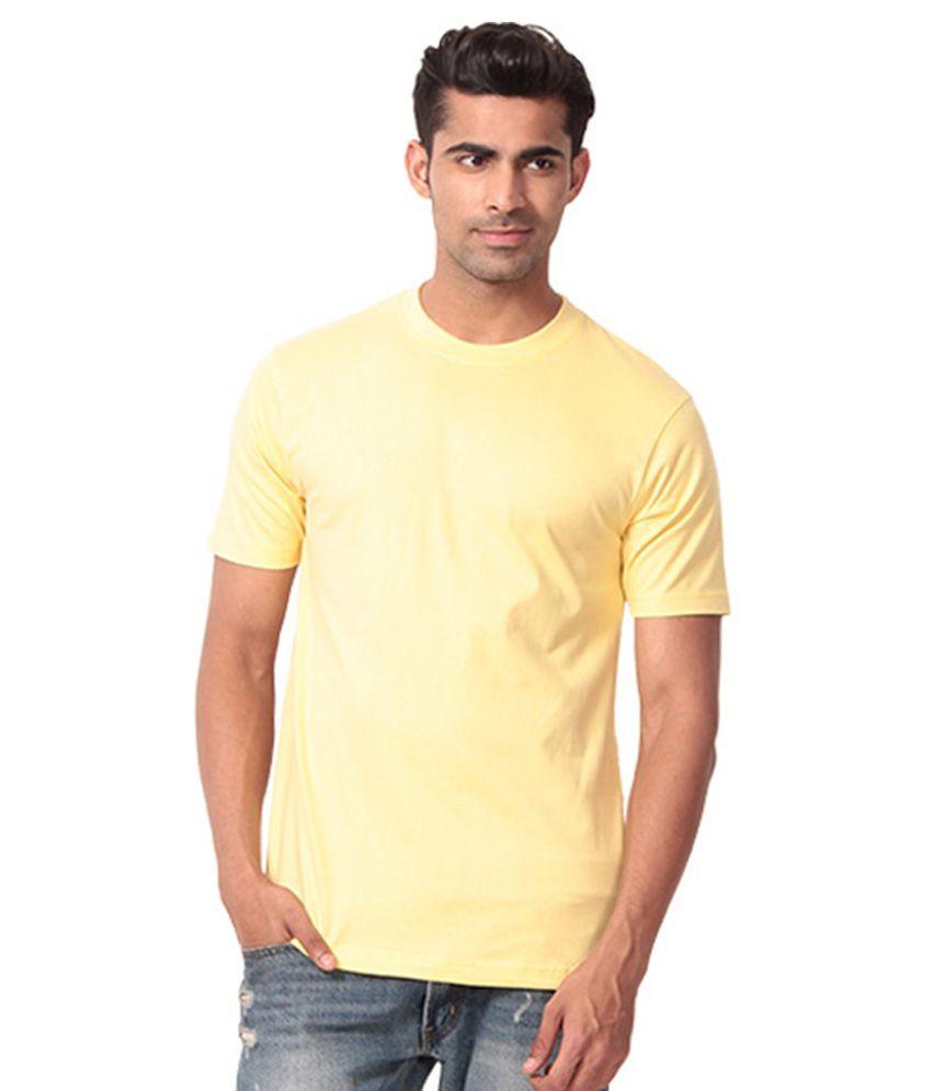 Winson Yellow Cotton T-Shirt