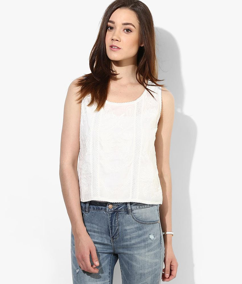c64dd2a853b ONLY White Top - Buy ONLY White Top Online at Best Prices in India on  Snapdeal