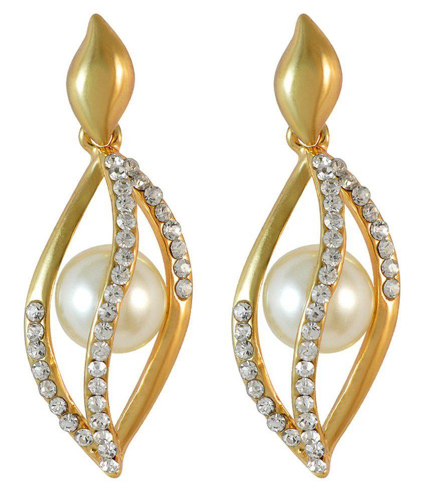 Sarah Golden Geometrics Drop Earrings