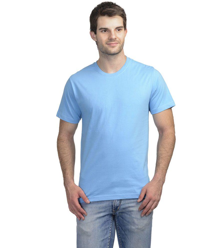 Shri Balaji Garments Blue Cotton T-shirt