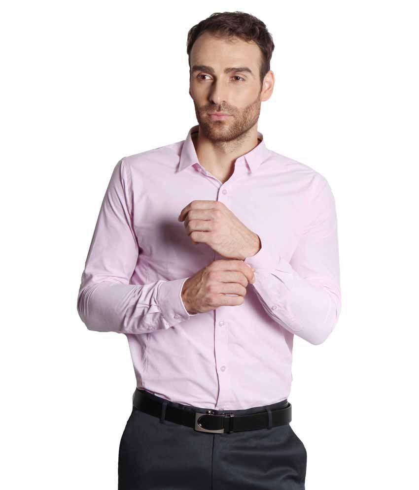 Solemio Pink Formal Shirt