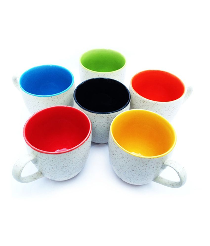 af18a6e47d Vpra Mart Multicolour Tea Cups - Set of 6: Buy Online at Best Price in  India - Snapdeal