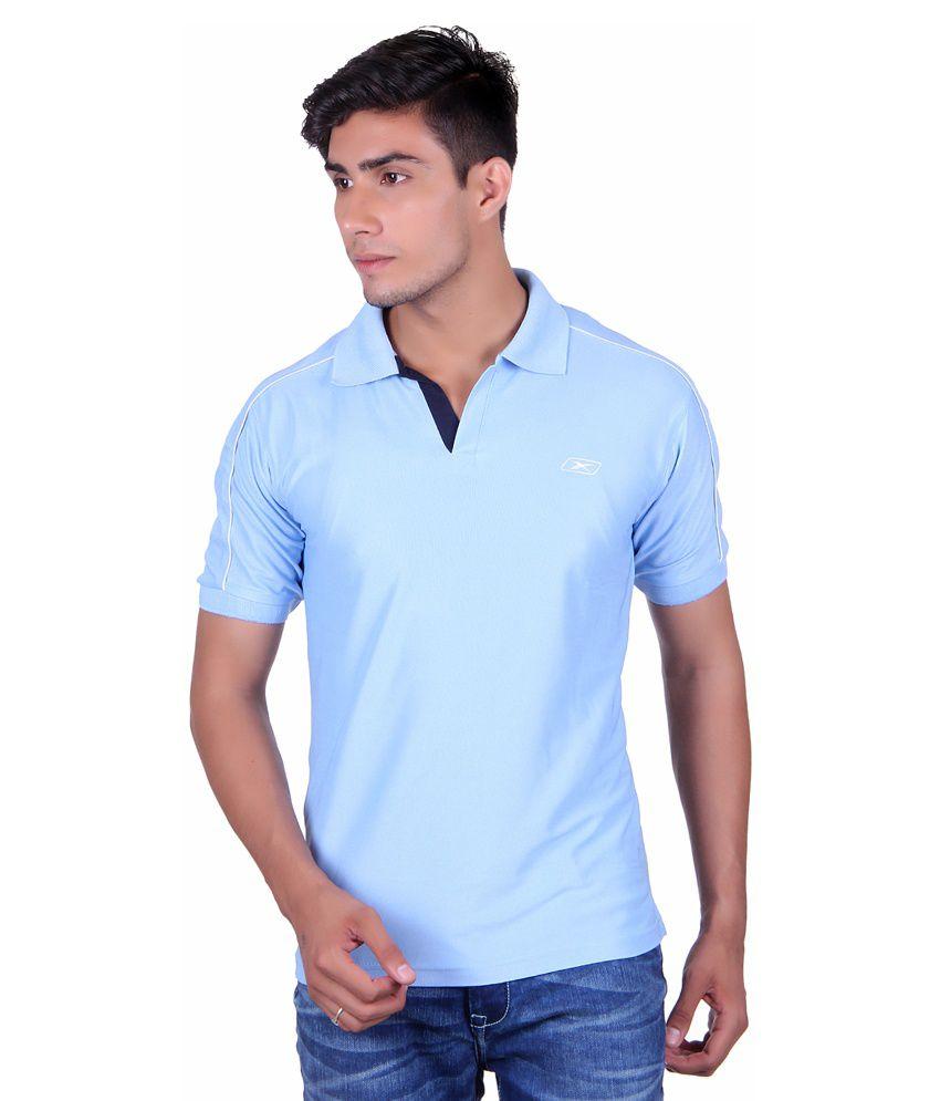 EX10 Blue Sports Polyester T-shirt
