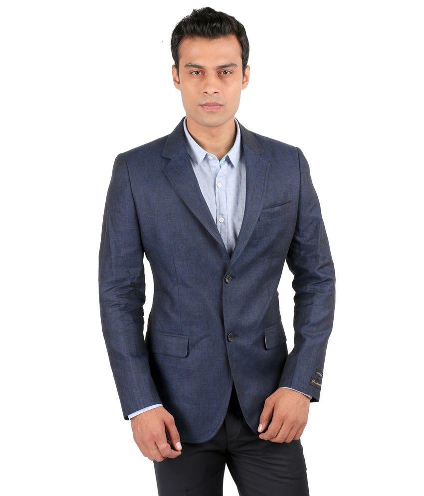 Jhampstead Blue Linen Blazer