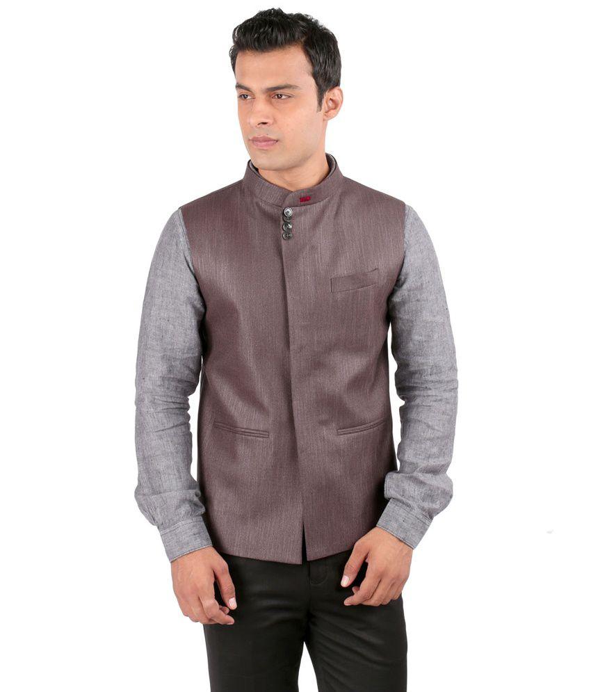 Jhampstead Grey Rayon Waistcoat