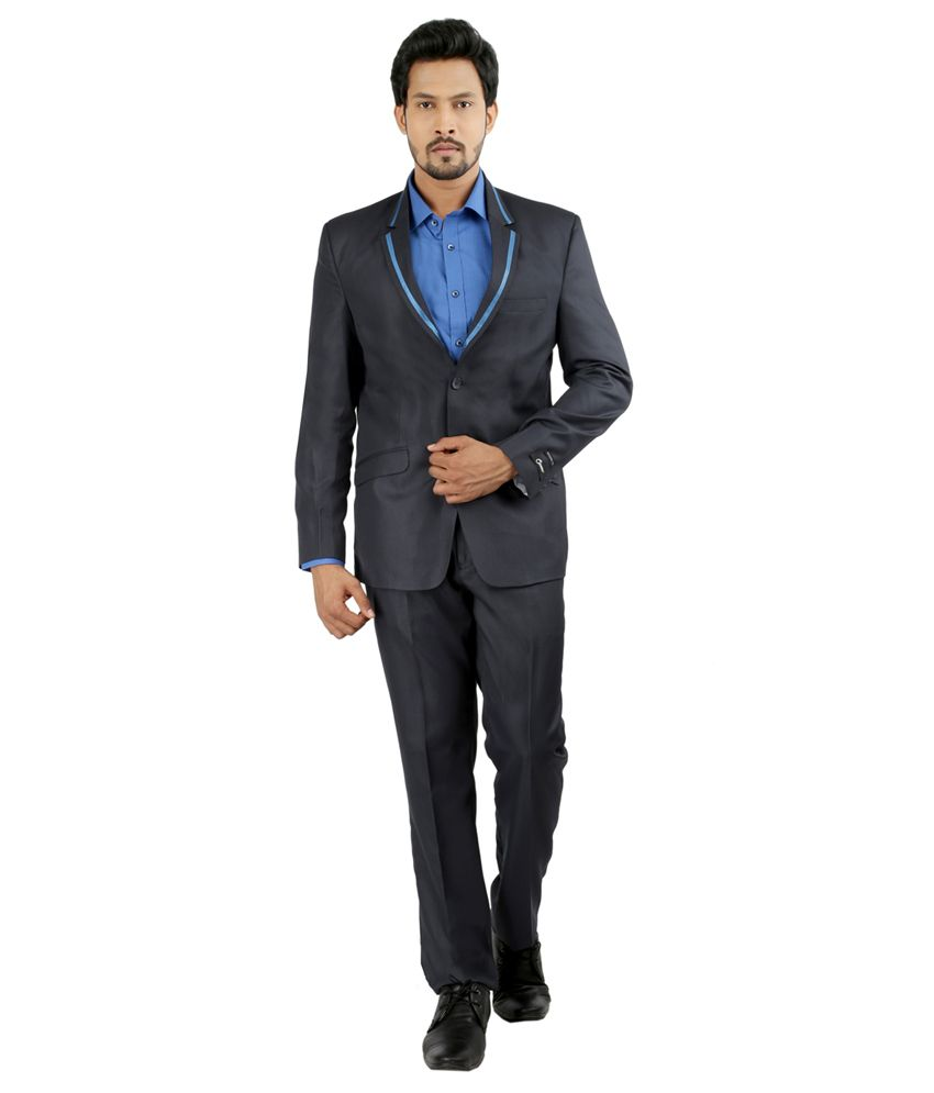 Oxemberg Blue Poly Viscose Suit