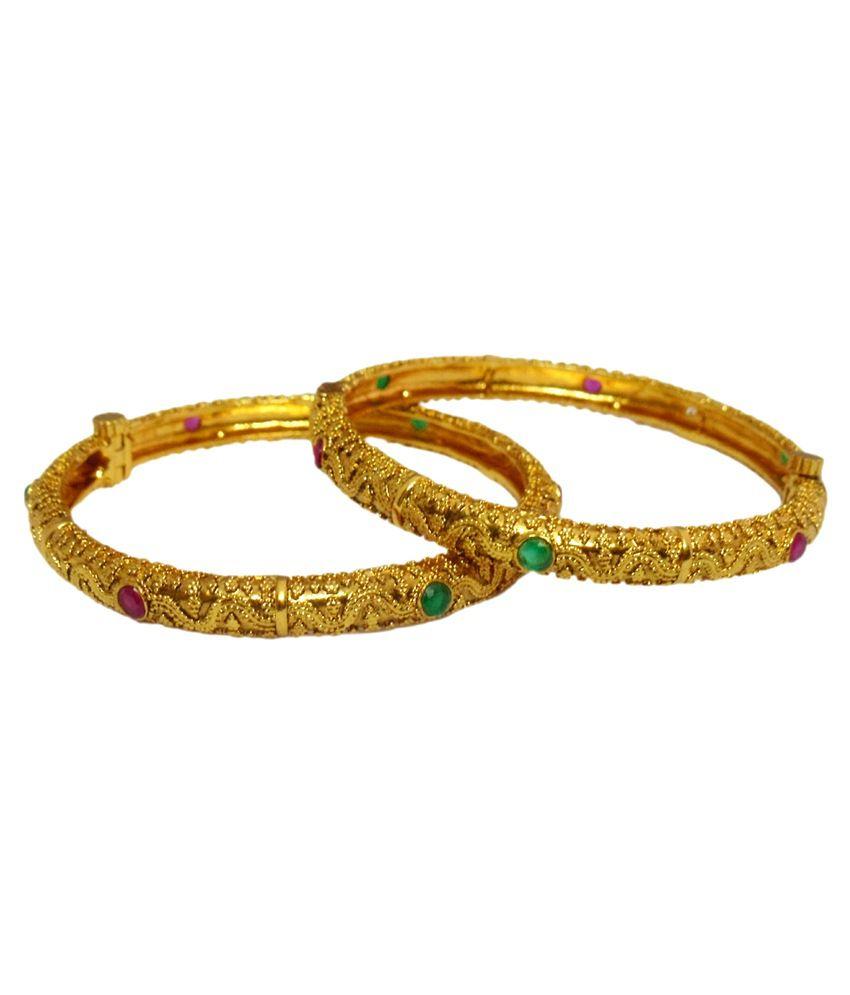 Adj Golden Brass Kada Set