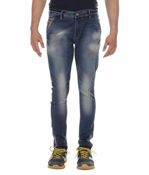Fastrax Denim Blue Slim Fit Jeans