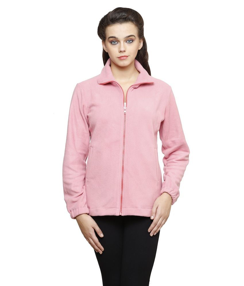 Finesse Plus Size Light Pink Fleece Jacket