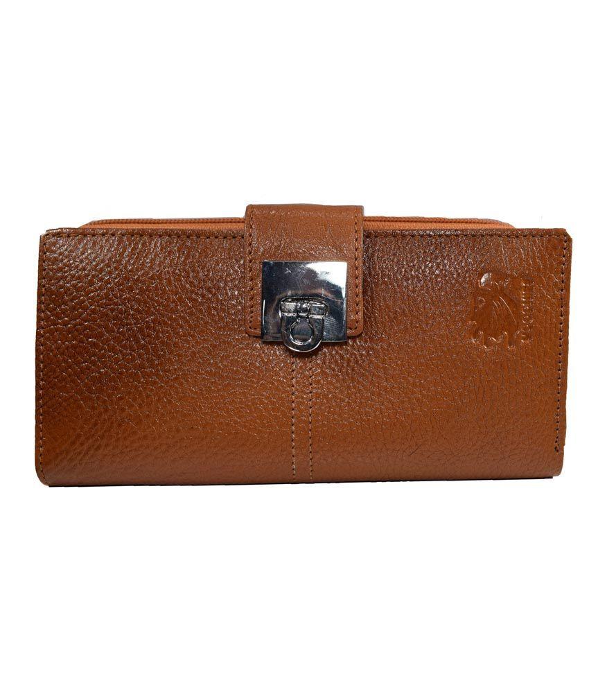 Moochies Brown Leather Wallet