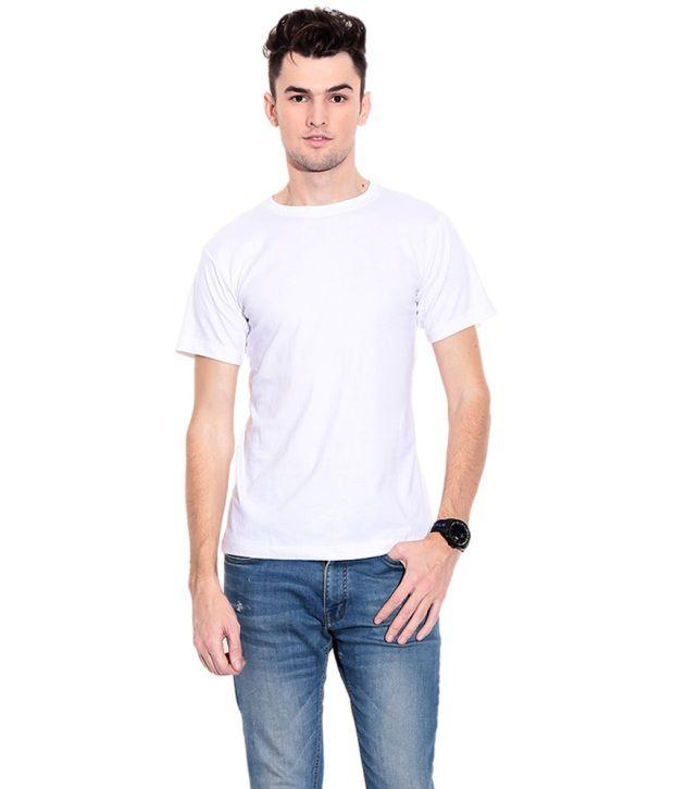 Rearc White Cotton Round Neck T-Shirt