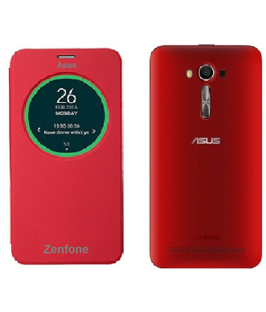 the latest ad861 4b48d SMA Flip Cover For Asus Zenfone 2 Laser 5.5 ZE550KL - Red