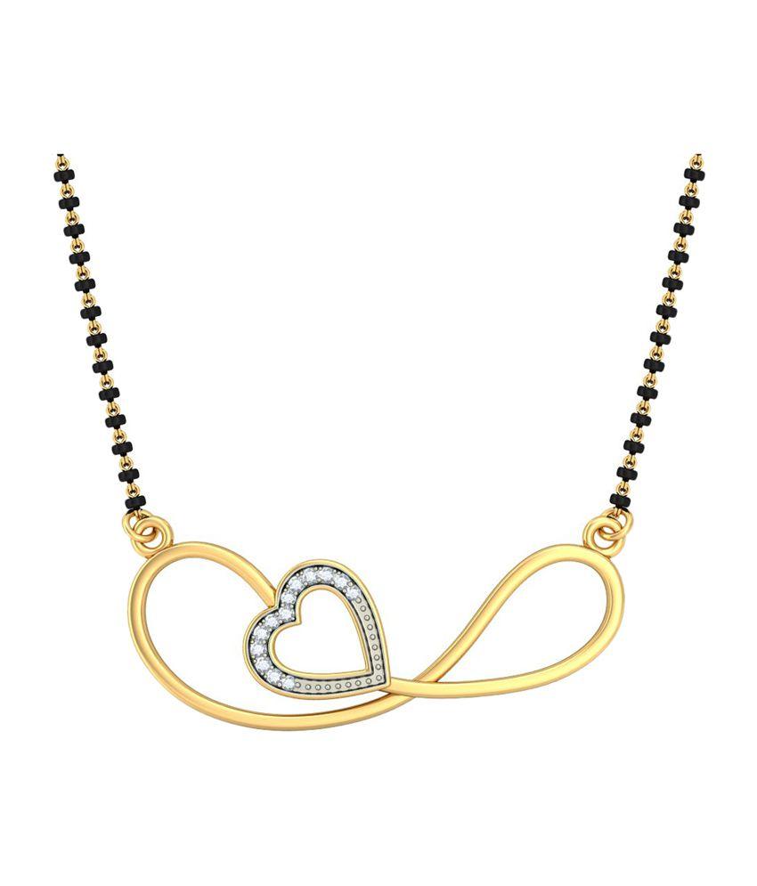 Bluestone 14Kt Yellow Gold & Diamond Jayashri Tanmaniya