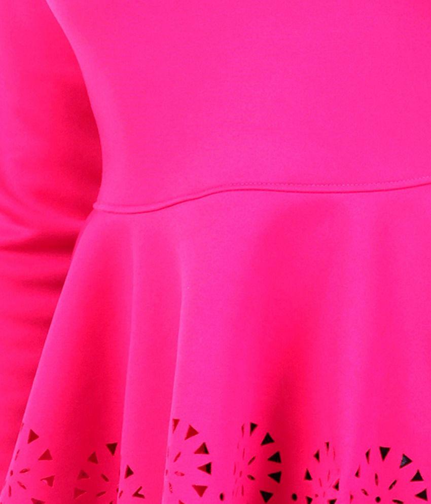 Fuchsia Peplum Dress