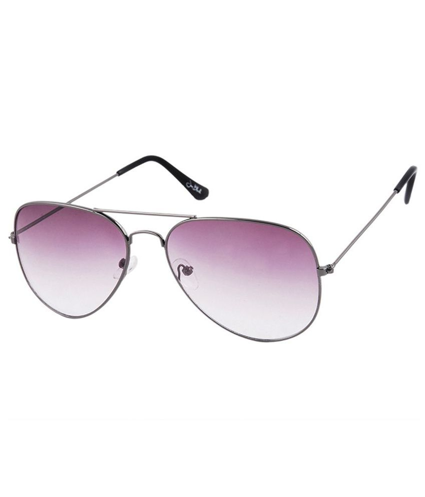 Silver Kartz Metal Aviator Sunglasses