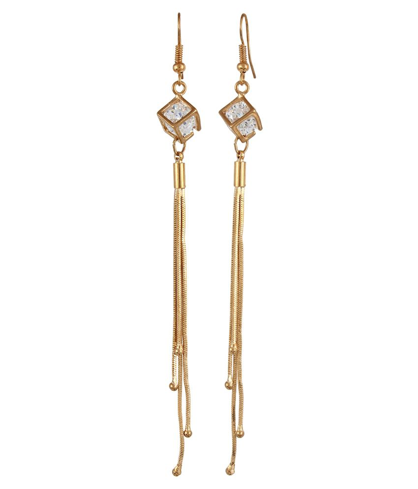 Aldeco Creations Gold Plated Daily Wear Hanging Earrings