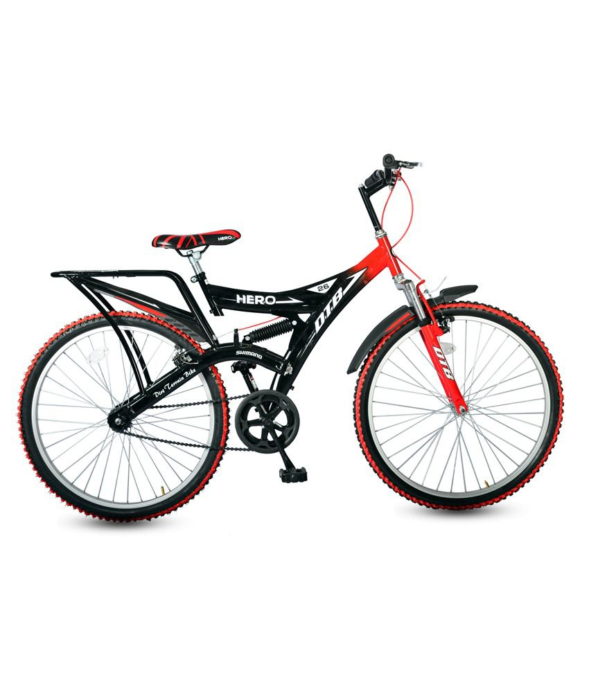 c29a1a8ced0 Hero DTB Black & Red 26T Adult Mountain Cycle Adult Bicycle/Man/Men/Women