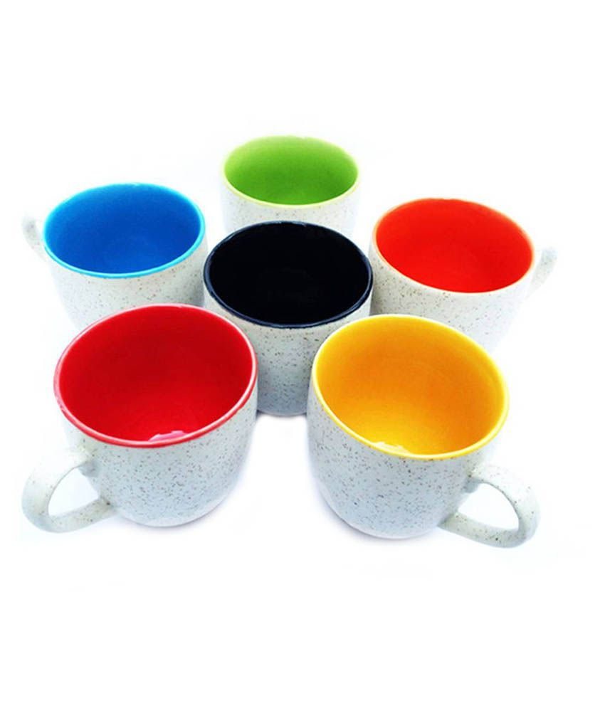 Vpra Mart White Tea Cups Set Of 6 Buy Online At Best Price In