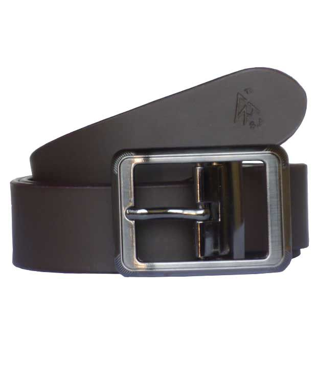 A S Traders Brown Formal Single Belt For Men