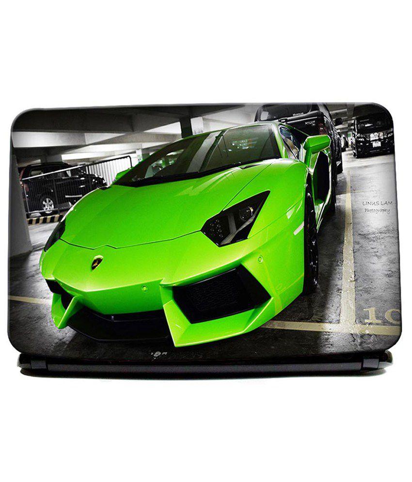 Lamborghini Green Gallardo Super Car Laptop Skin Buy Lamborghini
