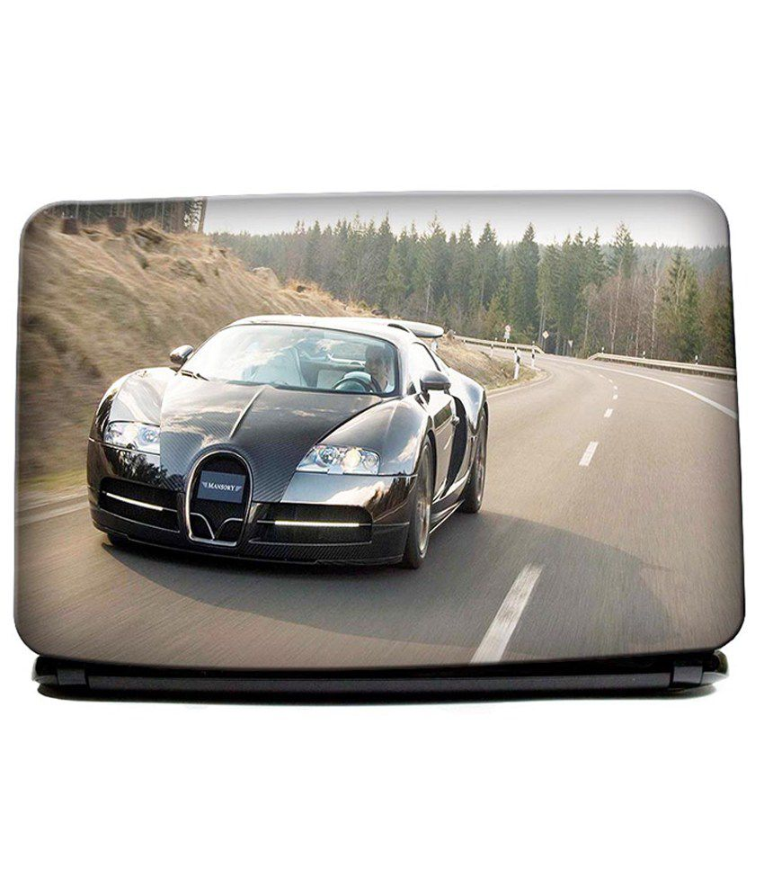 hawtskin bugatti veyron black and chrome super car laptop skin best price in india on 17th. Black Bedroom Furniture Sets. Home Design Ideas