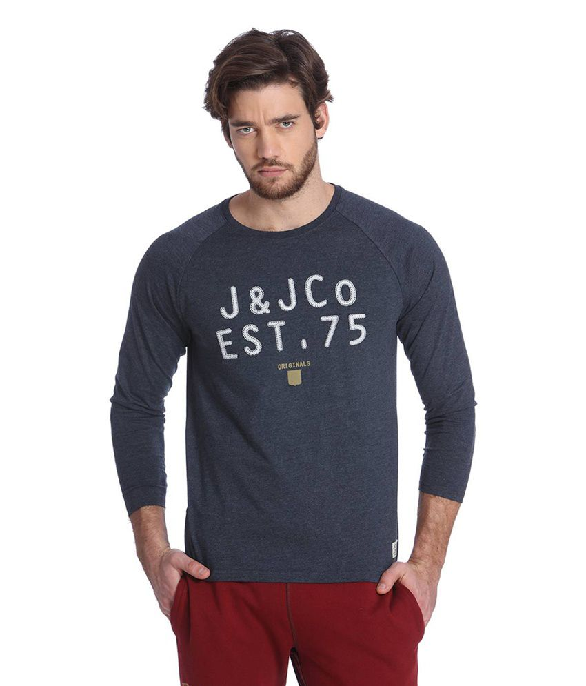 1db35e737fcc4c Jack   Jones Navy Blue Cotton Full Sleeves Men s T-Shirt - Buy Jack   Jones  Navy Blue Cotton Full Sleeves Men s T-Shirt Online at Low Price -  Snapdeal.com