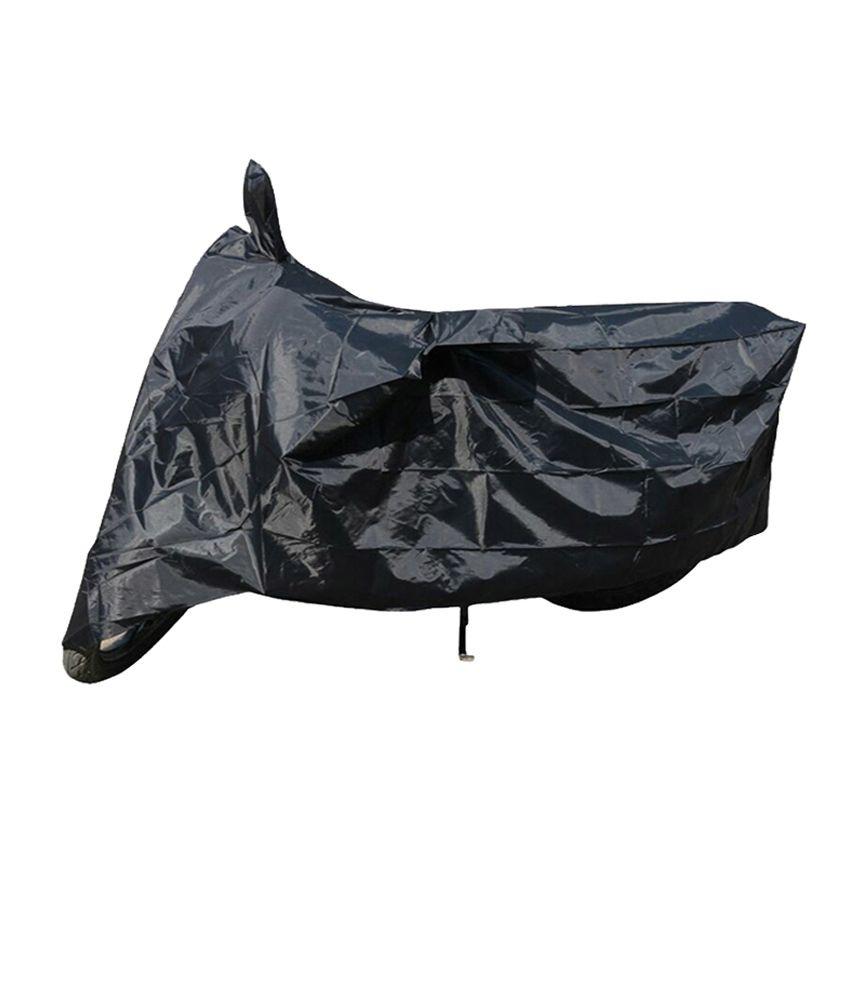Allure Auto Standard Bullet 350 - Bike Cover With Mirror Pockets ( Black  Colour )