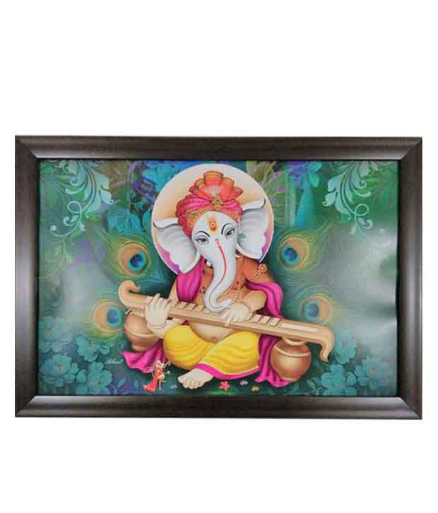Trends On Wall Matte Religious Painting With Wooden Frame