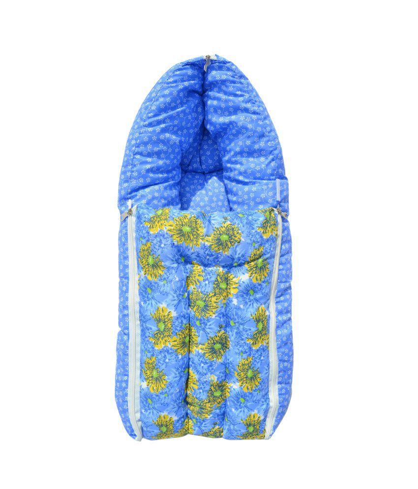 Younique Blue Cotton Sleeping Bags ( 60 cm × 55 cm)