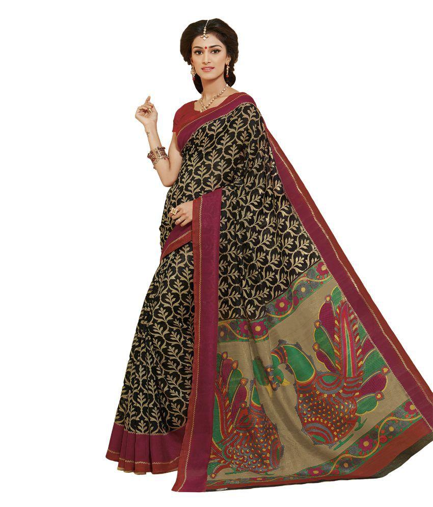140ddf610b737d Brahmi Fashion Brown and Black Animal Motif Printed Ikkat Silk Saree - Buy  Brahmi Fashion Brown and Black Animal Motif Printed Ikkat Silk Saree Online  at ...