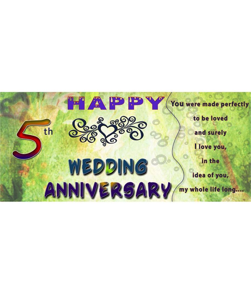 EFW Happy 5th Wedding Anniversary Printed Ceramic Coffee Mug - 325 ...
