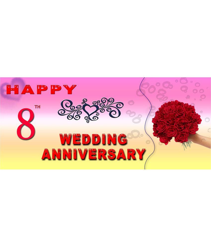 Efw Hy 8th Wedding Anniversary Printed Ceramic Coffee Mug 325 Ml