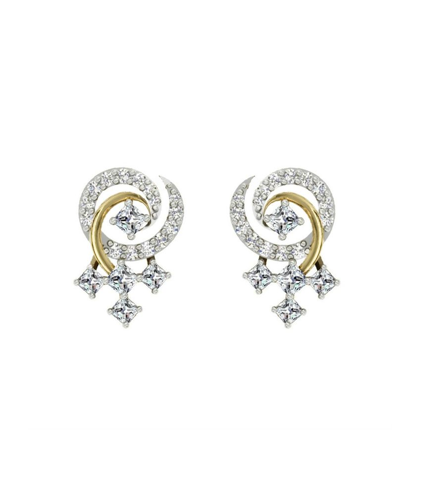 606afd0ea ... Stud Earrings with 0.46cts Diamonds: Buy TBZ-The Original 18Kt Yellow  Gold Daily Wear Stud Earrings with 0.46cts Diamonds Online in India on  Snapdeal