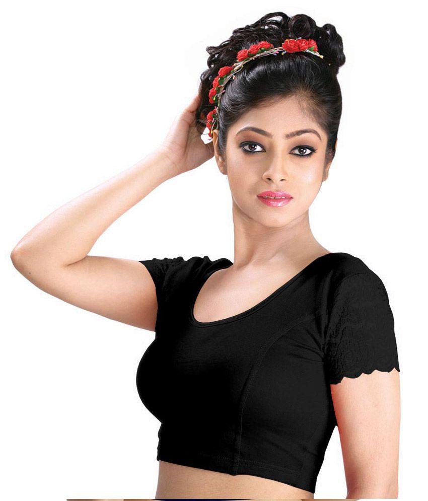 Abhi Black Cotton Blouses