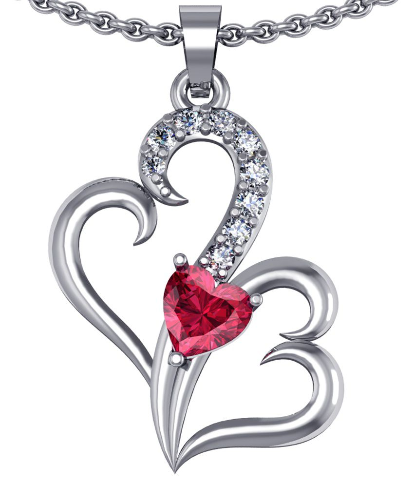 Shruti German Silver American Diamond Designer Pendant Set