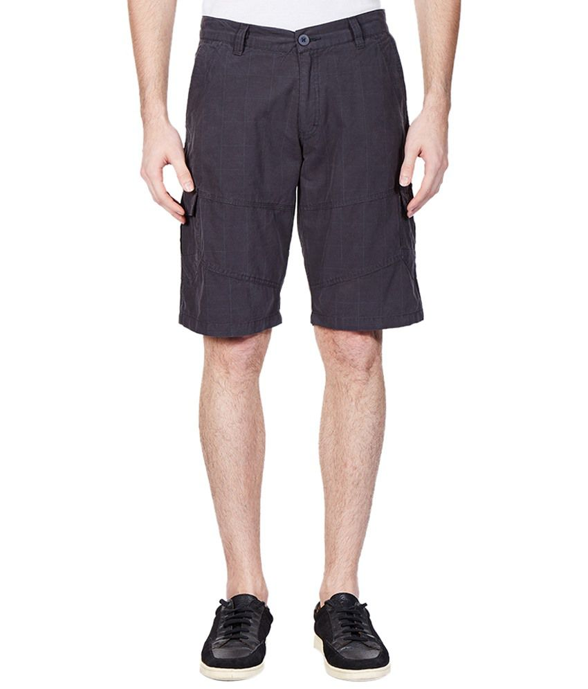 Vintage Purple Checkered Shorts