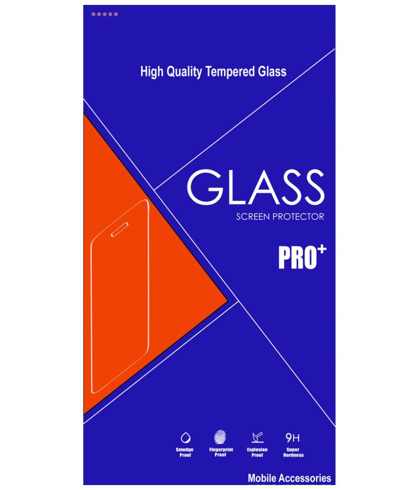 HTC Desire 820 - Blue Tempered Glass Screen Guard by Nicedeal