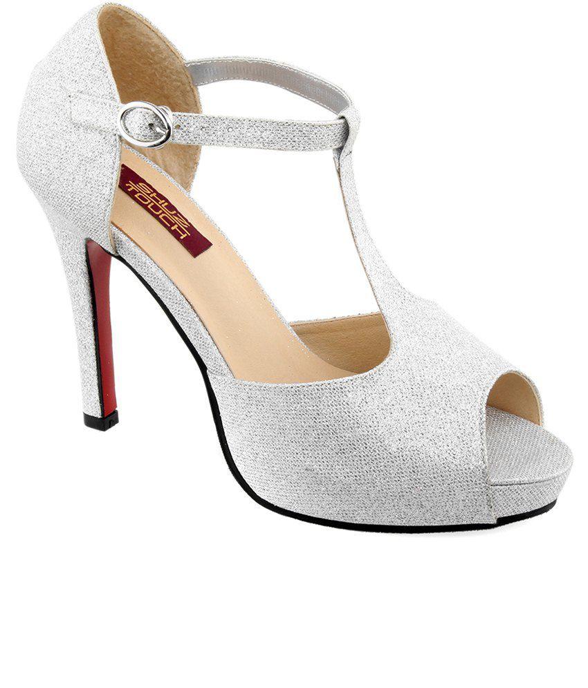 Shuz Touch Silver Stiletto Heels