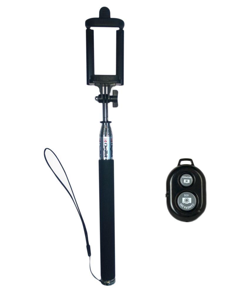 Digitek DBST-002 Bluetooth Selfie Stick- Black